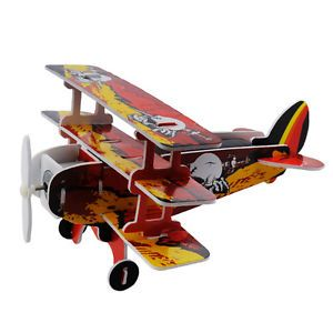 Solar Powered Educational DIY Toy Assemble Three Layers Warplane Kids Gift EP98