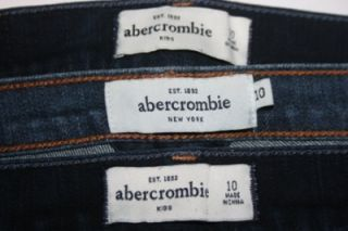 Abercrombie Kids Girls Jeans Hoodie Haley Super Skinny Lot of 4 Size 10 Medium