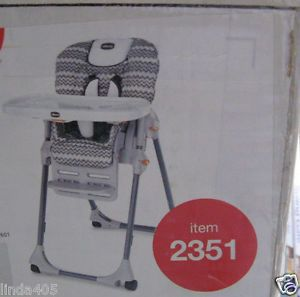 Chicco Polly Perseo Vinyl Pattern Space Saving Fold High Chair Infants Toddlers