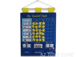 My Reward Chart Blue Cloth Wallhangings Learning Activity Kids Toy Gift