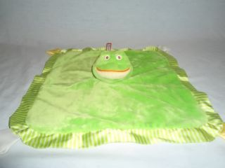 Douglas Cuddle Toys Plush Green Frog Security Blanket Nunu Baby Infant Lovey