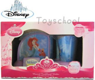 Disney Princess The Little Mermaid Educational Musical Toothbrush Holder Cup