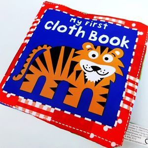 1×BABY Kids Children's Crinkle Animal Zoo Learning My First Cloth Book Soft Toys