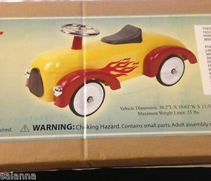 New Lil' Flame Racer Ride on Toy Vintage Style Child Metal Car Toddler Roadster
