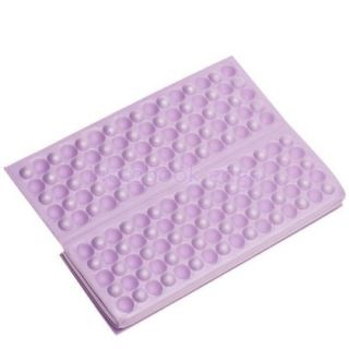 Foldable Folding Foam Seat Cuchion Chair Pad Park Picnic Graden Camping Purple