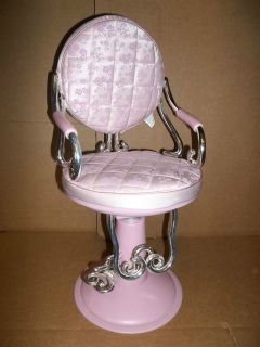"Pink Hair Salon Chair Fits 18"" Girl Doll American Our Generation Battat Beauty"