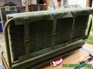 Military Truck Jeep M151 A1 A2 Vintage Back Rear Seat 2 Canvas Cushion Set RARE