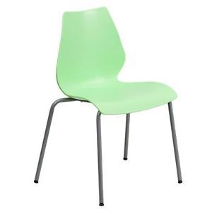 Heavy Duty Ergonomic Stacking Chair School Office Desk Stack Waiting Room Green