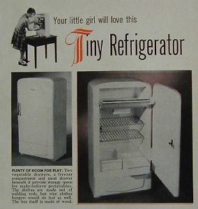 Toy Refrigerator Kid Size Wooden Toy 1954 How to Plans