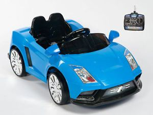 Lamborghini Style Blue Ride on Kids Electric Power Wheels Car Remote Controlled
