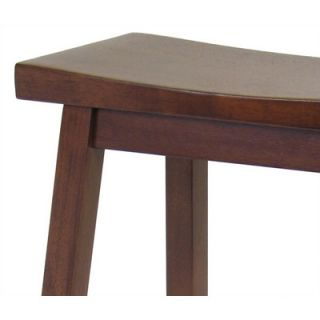 Winsome Brown Bar Stool   Saddle Seat 29 in Walnut