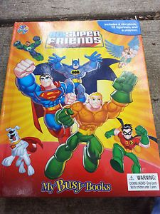"Child Boy Girl Superhero Book Action Figure Toy ""DC Super Friends My Busy Books"""