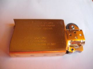 Niagara Falls Zippo Lighter Slim Gold Insert Canada 1999 Vintage New Old Stock