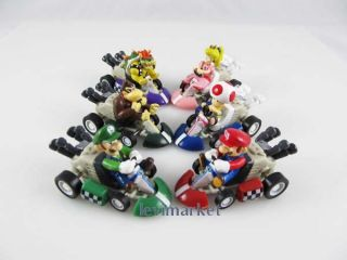 6pcs Mini Pull Back Car Racing Tournament Toy Super Mario Bros Game for Nintendo