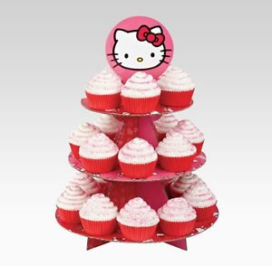 Hello Kitty Cupcake Stand Wilton Birthday Party Supplies