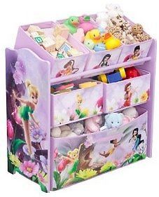 Disney Tinker Bell Fairies Multi Bin Baby Kids Toy Organizer Storage Box Bin New