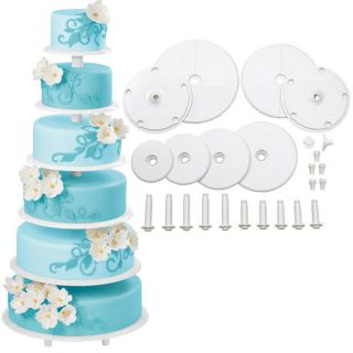 Wilton Towering Tiers Cake Stand 6 Tier Tall Cake Decorating Wedding Rental