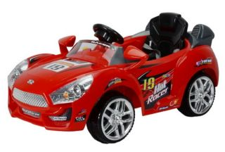 Red Hot Racer Kids Electric Powered Wheels Sporty Ride on Car  RC Remote