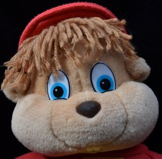 Alvin Chipmunks Scarce UK Market Hasbro Vintage 1988 Plush Stuffed Toy 13""