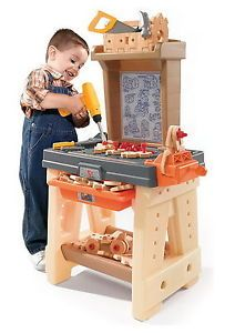 New Kids 65 Piece Toy Workbench Work Bench with Building Tools Artificial Wood