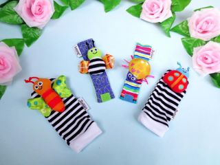 Infant Baby Kids Lamaze Wrist Watchs Foot Socks Rattles Hand Foot Finders Toys