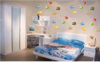 Tropical Fish Nursery Room Wall Sticker DIY Decor Decals Removable Art Kids Cool