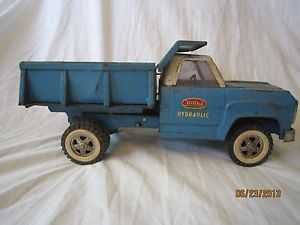 Old Antique Vintage Tonka 1960's Blue Construction Hydraulic Dump Truck Kids Toy