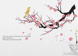 Beautiful Flower Tree Bird Bedroom Art Decal Decor Mural Wall Sticker Removable