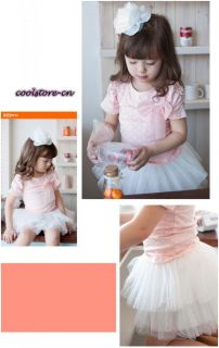 Kids Girls Hot Dots Bowtie Princess Dress Wedding Party Top Tutu Skirt Sets Q201