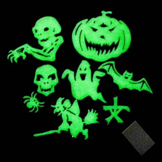 1 Set Ghost Halloween Glow in The Dark Kid Bedroom Decoration Night Toy A0626