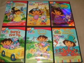 6 Nick Jr Dora Explorer Kids Children Family DVD Movie Lot First Trip Dance More
