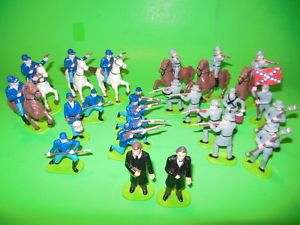 Lot AA Awesome Kids American Civil War Plastic Soldiers Set Lincoln Davis Etc