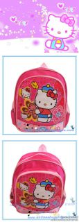 Disney Cute Hello Kitty Girls Kids Childs Plush Preschool Backpack School Bag