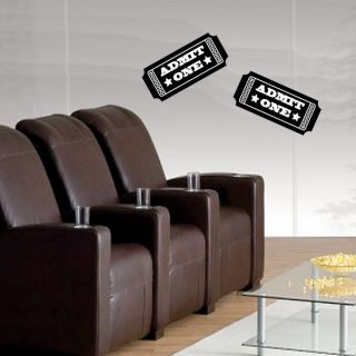 Home Theater Set Film Popcorn Tickets Camera Movie Wall Art Decal Sticker Clap