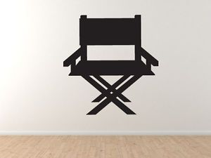 Cinema Home Theater Part 3 Director Chair Silhouette Vinyl Wall Decal