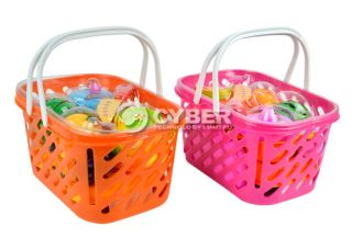 Cute Children Baby Kids Fruit in Basket Set The Kitchen Toys New Hot Sale DZ88
