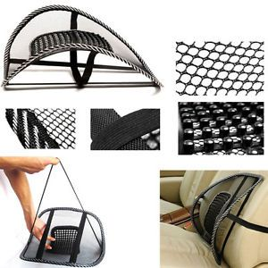 For Car Seat Chair Mesh Back Lumbar Support Massage Cushion with Massage Beads