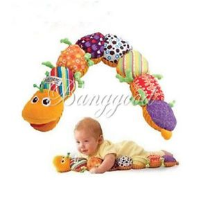 Hot Colorful Soft Plush Developmental Baby Musical Inchworm Kids Educational Toy