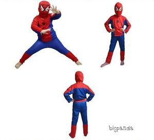 Spiderman Kids Boys Cloths Fancy Dress Costumes Mask Suit Outfit Toys