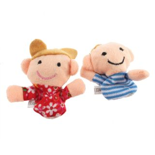 Family Member Puppets Finger Plush Cloth Toys Doll Baby Bed Story Helper G6