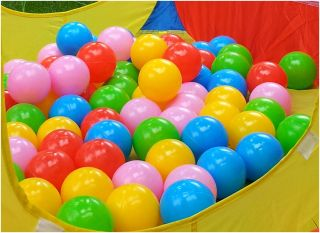 80 Pcs Colorful Ball Fun Ball Soft Plastic Ocean Ball Baby Kid Toy Swim Pit Toy