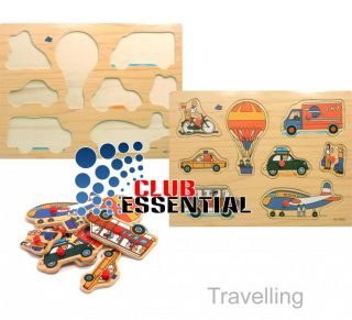 Children's Educational Travelling Fun Learning Playing Jigsaw Puzzle Wooden Toys