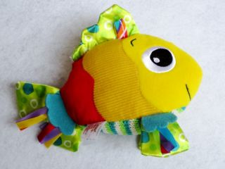 Lamaze Feel Me Fish Developmental Soft Stuffed Plush Attach Crinkle Squeaky Toys