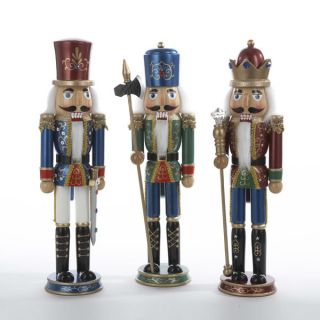 Kurt Adler Christmas Wooden Soldier Nutcracker with Metallic Blue Green Finish