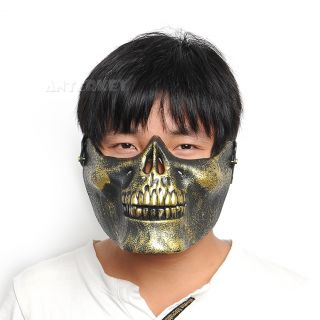 Skull Skeleton Ghost Airsoft Hunting Biker Ski Half Face Protect Halloween Mask