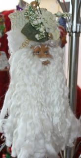Giftcraft African American Santa Head Ornament 066413