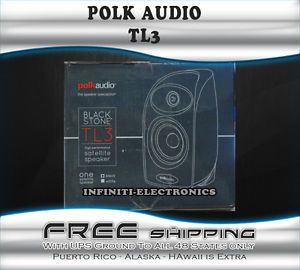 New Open Box Polk Audio TL 3 Home Theater Audio Satellite Speaker TL3 Single