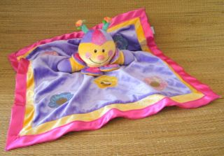 Baby Gund Benita 58307 Pink Purple Bee Rattle Lovey