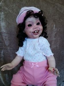 Hester Ann Creepy Weird OOAK Reborn Horror Doll