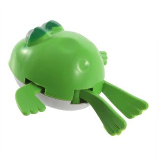 Funny Cute Baby Kid Child Bairn Swimming Frog Wind Up Bath Plastic Toy Good HS
